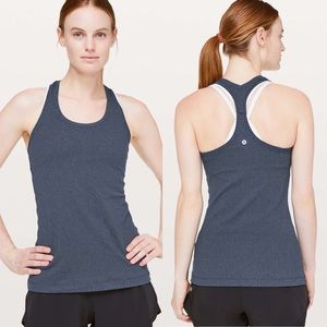 Lululemon Cool Racerback II Tank Top Navy Dot 10 ?